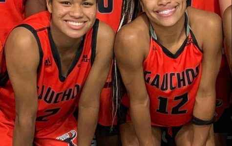 Noelani  (left) and Tashawni Cornfield (right) pose in their Gauchos uniform.